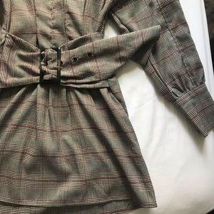 Fashion Nova Dresses - Fashion Nova x Cardi B Plaid belted dress
